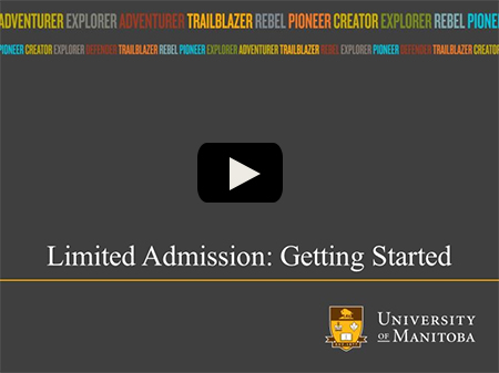 Limited Admissions: Getting Started - online tutorial