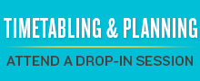 Attend a drop-in Timetabling and Planning session
