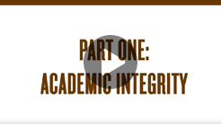 Academic Integrity Video (Part 1)